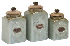 kitchen canisters and jars ceramic canisters 3 set farmhouse kitchen