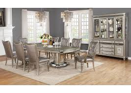 Dining Room Sets Dallas by Wow Furniture Dallas Tx Metallic Platinum Dining Table W 2 Arm