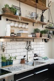 etageres murales cuisine multiplier les étagères dans la cuisine une idée déco pour