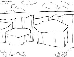 national parks coloring pages doodle art alley