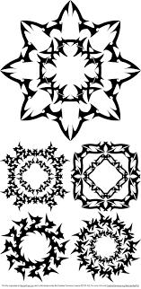 free abstract tribal ornament vectors