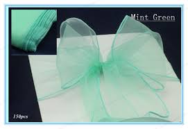 mint green chair sashes 150 mint green new wedding party banquet chair organza sash chair