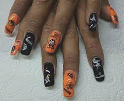 imagenes de uñas decoradas de jalowin uñas de halloween tarjetaz