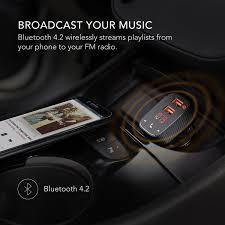 Radio Locator App Amazon Com Anker Roav Smartcharge Car Kit F2 Wireless In Car Fm