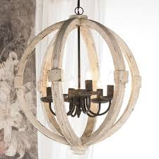 Wooden Chandeliers Chandelier Outstanding Rustic White Design Remarkable Intended For