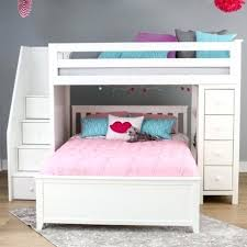 Loft Bunk Bed With Stairs Loft Bed With Storage Oxford 1 White Loft Bunk Bed With