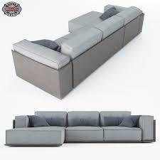 3d model modular sofa loft cgtrader