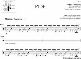real drum tutorial rude ride twenty one pilots drum sheet music onlinedrummer com