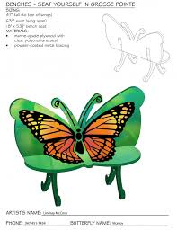 Butterfly Bench Two Butterfly Benches Proposed For The Grosse Pointe Chamber Of