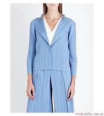 issey miyake light blue jackets jacket light blue coats and womens pleats please issey