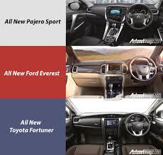 pajero sport vs ford everest vs toyota fortuner terbaru
