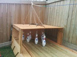 Make Wood Patio Furniture by Amazing Diy Wood Backyard Bowling Alley 1001 Gardens