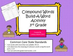 compound words build a word 3rd grade common core sorting activity
