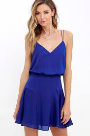 sleeveless dress chic royal blue dress sleeveless dress fit and flare dress