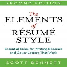 listen to elements of resume style essential rules for writing