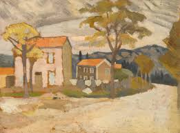 Landscape With Houses by Fry Roger Landscape With House Painting Sotheby U0027s