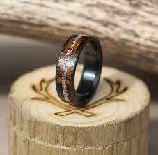 black zirconium wedding bands hammered black zirconium wedding band w antler wood inlays