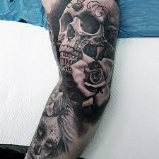 sugar skull sleeve with sleeves