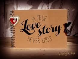honeymoon photo album a true story never ends scrapbook photo album couples gift
