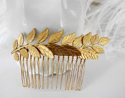 hair combs free shipping bridal hair comb gold leaf branch fern