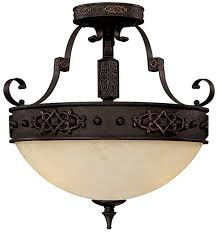 Traditional Ceiling Light Fixtures Capital Lighting 3603ri River Crest Traditional Rustic Iron Semi