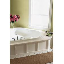 american standard everclean corner 5 ft whirlpool tub in white