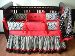 Pink And Black Crib Bedding Sets Black Damask Baby Bedding Included In This Set Is The Bumper
