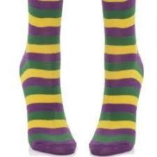 mardi gras socks mardi gras striped knee socks w fleur de lis design