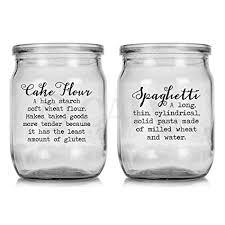 kitchen canister labels amazon com pantry definition set cursive font kitchen canister