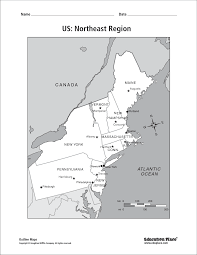northeast united states map with states and capitals northeastern us maps blank map of east usa throughout blank