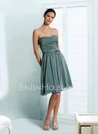 a linie herzausschnitt knielang chiffon brautjungfernkleid mit gefaltet p334 abendkleider in köln moda abendmode