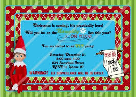 magical elf invitation birthday christmas party custom
