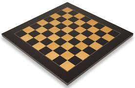 Chess Table Black U0026 Ash Burl High Gloss Deluxe Chess Board 2 25