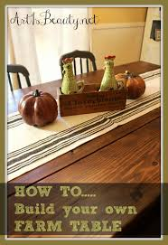 how to build a dining room table plans art is beauty how to build your own farmhouse table for under 100