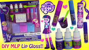 mlp equestria girls diy lip gloss set make your own scented