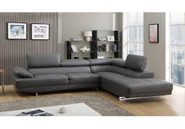Milan Leather Sofa by Milano Stylist Modern Grey Leather Corner Sofa Right Hand