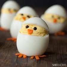 How To Decorate Boiled Eggs For Easter Chicken From Egg For Easter Food Decoration Cake And Food