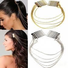 vlasove doplnky viphair cz luxusní ozdobné hřebínky do vlasů s řetízky vlasové