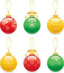 silhouette of a globe christmas ornaments clip art vector images