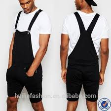 mens jumpsuit fashion high quality black jersey jumpsuit for casual mens