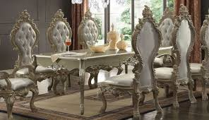Champagne Dining Room Furniture Homey Design Hd 13012 Traditional Luxurious Champagne Dining Table