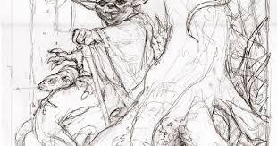 runic piranha studios art of andy brase yoda sketch to ink