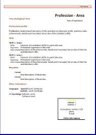 Personal Profile Resume Examples by Functional Cv Templates Resume Templates