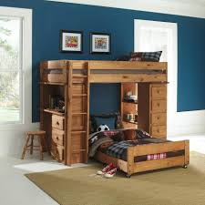 Full Sized Bunk Bed by Bedroom Country Brown Varnished Pine Wood Bunk Bed With Study