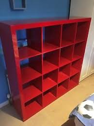 Ikea Kallax Shelving Unit Gloss 49 Ikea Red Shelf Unit Home Furnishings Kitchens Appliances