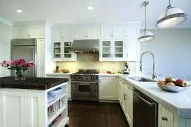 Black And White Kitchen Interior by White Kitchen Subway Tile Backsplash Recent Kitchens Cabinets