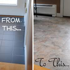 did you know that you can grout peel and stick vinyl tiles to look