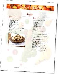 recipe templates make cookbook making easy