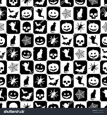 vintage halloween tile background seamless black white halloween pattern clipping stock vector