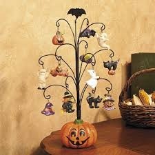 pumpkin tree with ornaments decorative accessories